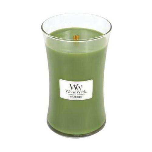 Woodwick - świeca duża evergreen 175h