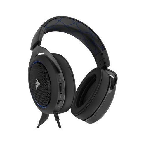 Zestaw słuchawkowy CORSAIR HS50 Stereo Niebieski do PS4 (0843591061995)