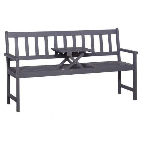 Drewniana ławka ogrodowa Gant - szara