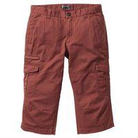 Spodnie bojówki 3/4 loose fit czerwony mahoń marki Bonprix