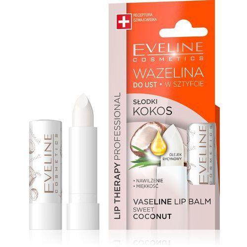 Eveline kolorowka Eveline lip therapy wazelina do ust w sztyfcie nawilżająca słodki kokos 1szt (5901761962857)