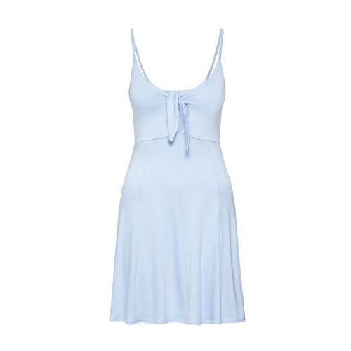 Missguided Sukienka 'STRAPPY TIE FRONT SKATER DRESS' niebieski