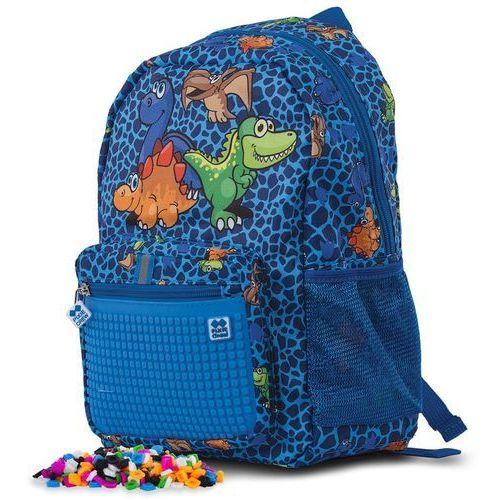 plecak dziecięcy z motywem dinozaurów, z pikselami marki Pixie crew
