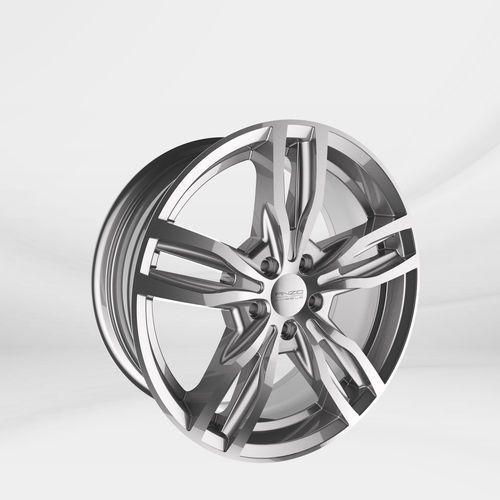 "Anzio Felgi aluminiowe 17"" 5x114.3 turn – srebrny"