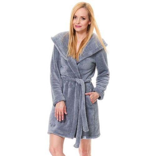 93a21fa59ba15e Dn-nightwear ssw.9571 szlafrok z kapture... Producent Dobranocka; Wzór  jednolity