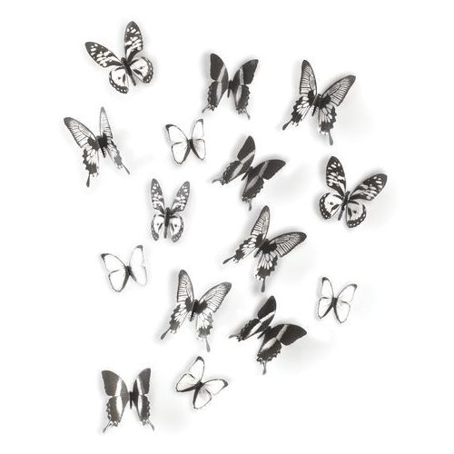 Dekoracja ścienna  chrysalis black 16 elementów marki Umbra