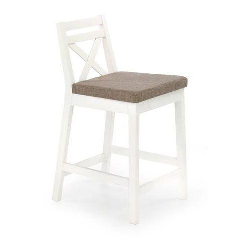Halmar Niskie krzesło barowe białe borys low