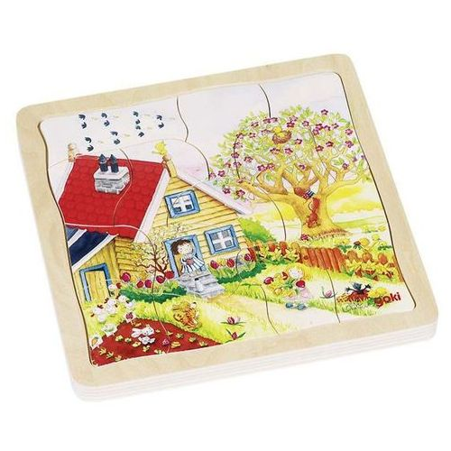 Puzzle drewniane układanka warstwowa Pory roku 54 (4013594576840)