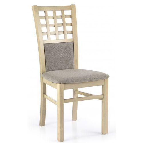 Stylowe krzesło drewniane GERARD 3 dąb sonoma / Gwarancja 24m / NAJTAŃSZA WYSYŁKA!, V-PL-N-GERARD3-SONOMA-KRZESŁO