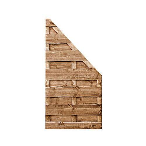 Płot skośny 90x180 cm drewniany olcha NEVADA WERTH-HOLZ (5902860165798)