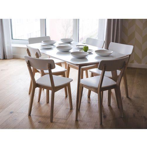 Krzesło białe - do jadalni - do kuchni - do salonu - santos od producenta Beliani