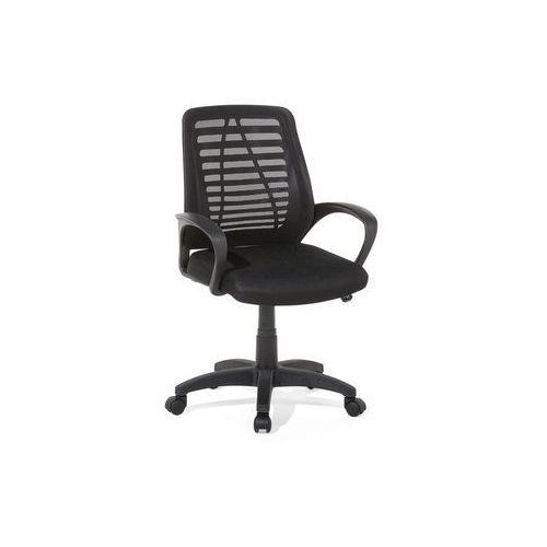 Beliani Krzesło biurowe czarne - meble biurowe - fotel komputerowy - mayor
