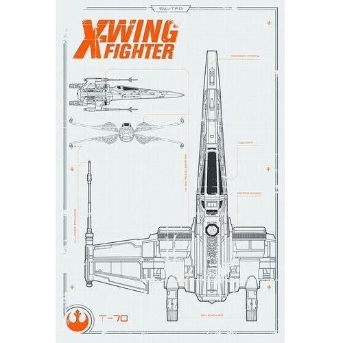 Gf Star wars gwiezdne wojny x wing plans - plakat