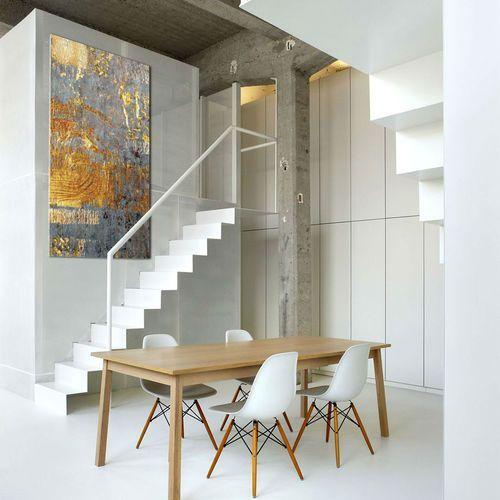 Ekskluzywne bardzo duże obrazy do salonu lub sypialni - złoto i niebieski