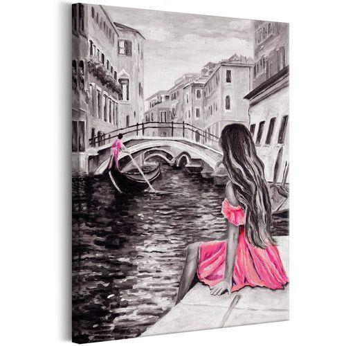 Obraz - Kobieta w Wenecji (1-częściowy) pionowy