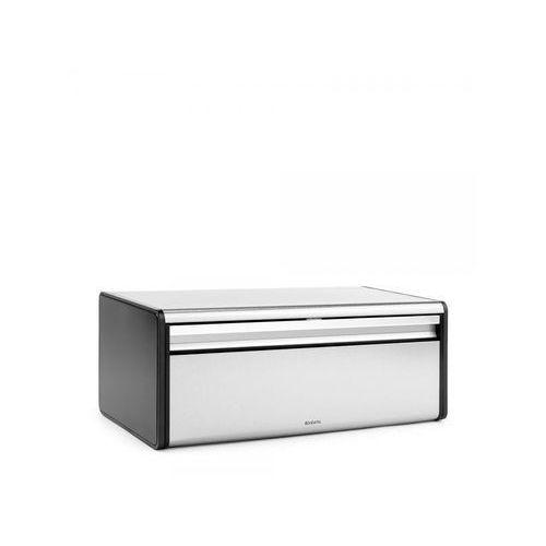 Chlebak prostokątny stal matowa FPP 18,7x25x46,5cm Brabantia srebrny/czarny