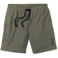 Długie szorty sportowe funkcyjne ciemnooliwkowy marki Bonprix