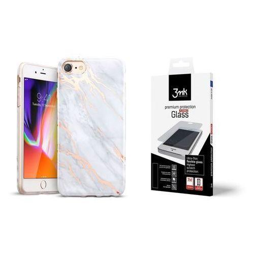 Esr Zestaw | etui marble gray + folia 3mk flexible - iphone 7 / 8