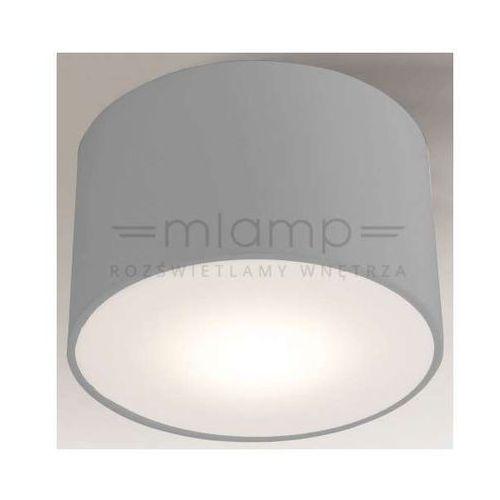 Shilo Natynkowa lampa sufitowa zama 1128/led/sz  okrągła oprawa led 15w plafon szary