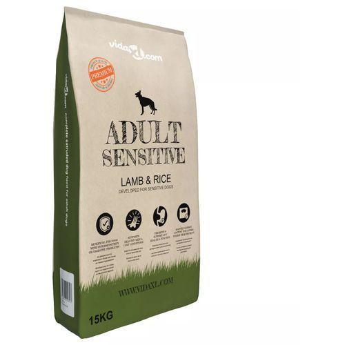 vidaXL Sucha karma dla psów, Adult Sensitive Lamb & Rice, 15 kg (8718475569305)