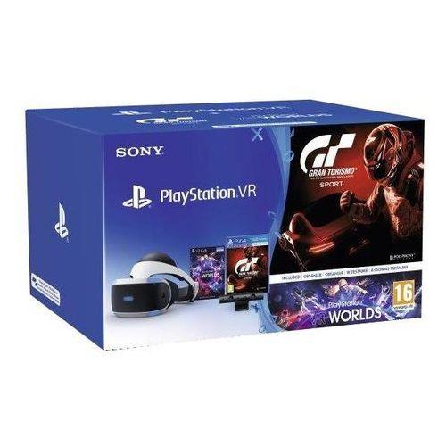 Sony PlayStation VR + PlayStation 4 Camera v2 + Gran Turismo Sport + VR Worlds - produkt w magazynie - szybka wysyłka! (0711719953265)