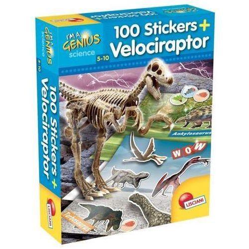 I'm a genius dino 100 stickers velociraptor marki Liscianigiochi