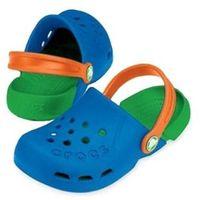 Crocs Kids Electro Sea Blue Lime Niebiesko-zielone klapki dla dzieci Różne rozmiary, kolor zielony