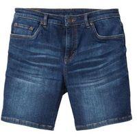 """Długie szorty dżinsowe """"power-stretch"""" slim fit ciemnoniebieski """"stone, Bonprix"""
