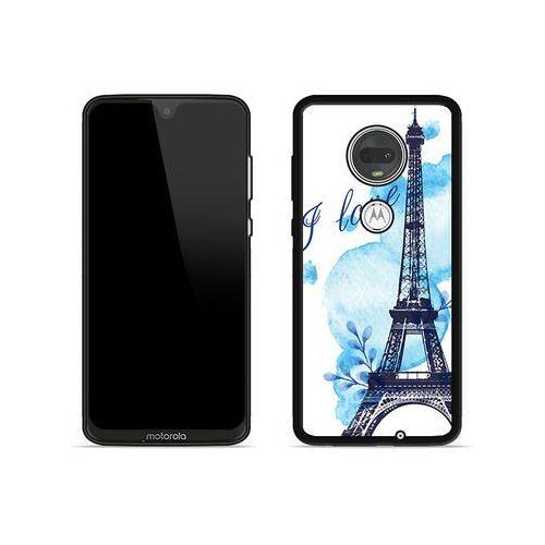 Etuo aluminum fantastic Motorola moto g7 plus - etui na telefon aluminum fantastic - niebieska wieża eiffla