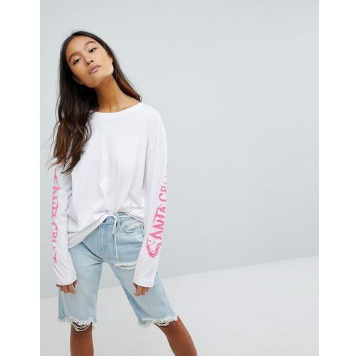 Santa Cruz Long Sleeve T-Shirt With Shark Back Print - White