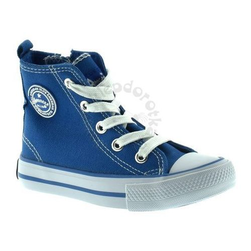 Trampki  9120-1 - niebieski marki American club