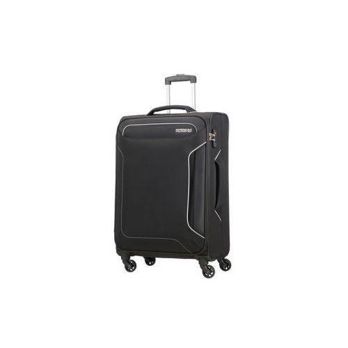 American tourister Holiday heat walizka średnia miękka 4 koła firmy materiał poliester zamek szyfrowy tsa