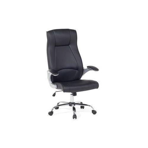 Krzesło biurowe czarne - meble biurowe - fotel komputerowy - commander marki Beliani