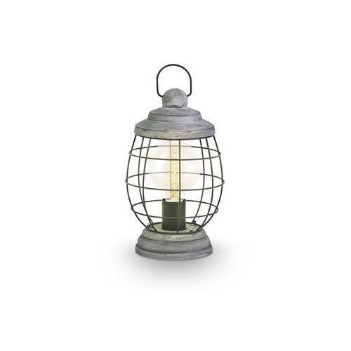 Stojąca lampka stołowa bampton 49289  druciana oprawa industrialna drut srebro antyczne wyprodukowany przez Eglo