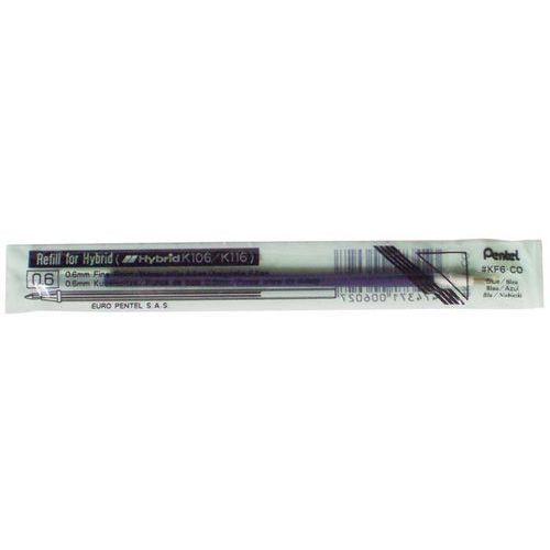 Wkład do długopisu żelowego kf6c niebieski 12 sztuk marki Pentel