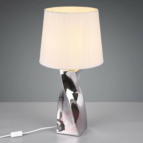 Trio rl abeba r50773489 lampka stołowa lampa 1x60w e27 srebrny / biały