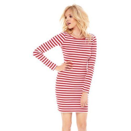 Sukienka nikita w biało-czerwone paski marki Sugarfree