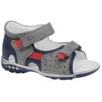 Sandałki na rzepy KORNECKI 4739 - Multikolor ||Grafitowy ||Granatowy ||Niebieski ||Szary ||Popielaty, kolor wielokolorowy