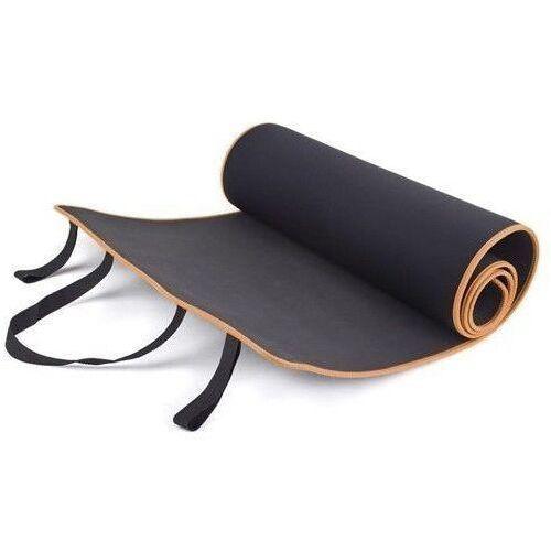 Mata do ćwiczeń 180x60x0,6cm - czarny / pomarańczowy marki Allright