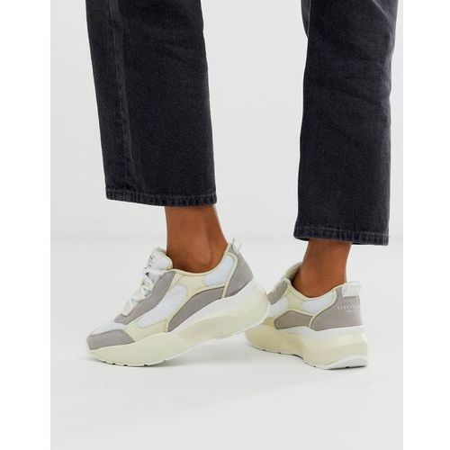 Sixty seven suede chunky trainers - white, Sixtyseven