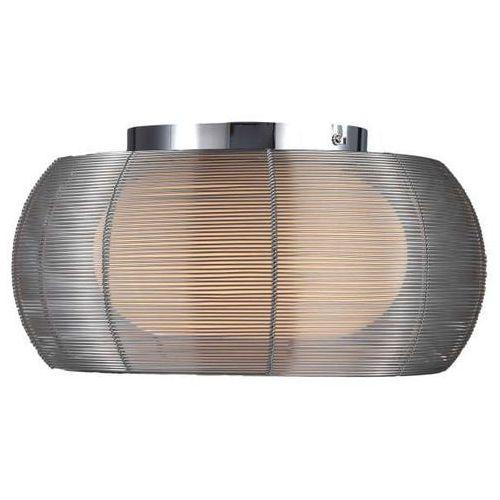 Plafon LAMPA sufitowa TANGO MX1104-2L SIL Zumaline metalowa OPRAWA nowoczesna szklana okrągła srebrna, MX1104-2L SIL