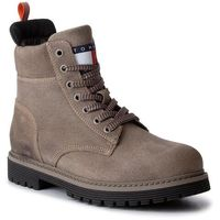 Trapery - outdoor sued boot em0em00317 dusty olive 011 marki Tommy jeans
