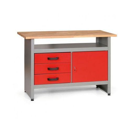 Stół roboczy z szufladami, szafką i półką