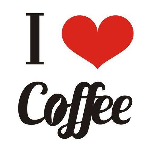 Naklejki napisy na ścianę I LOVE COFFEE
