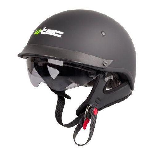 Kask motocyklowy otwarty chopper skuter W-TEC AP-84, Matt.czarny, XL (61-62) (8595153699758)
