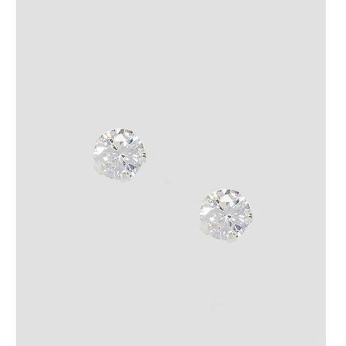 Kingsley Ryan Sterling Silver Rhinestone Stud Earrings - Silver, kolor szary