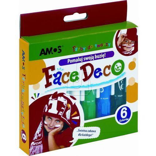 Farby do twarzy face deco 6 kolorów blister marki Amos