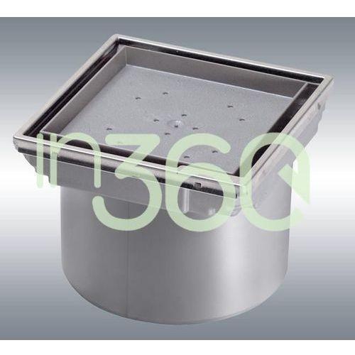system 125 nasada z asb z pokrywą do wklejania płytki 110x110 cm z ramą ze stali nierdzewnej 48211 marki Kessel