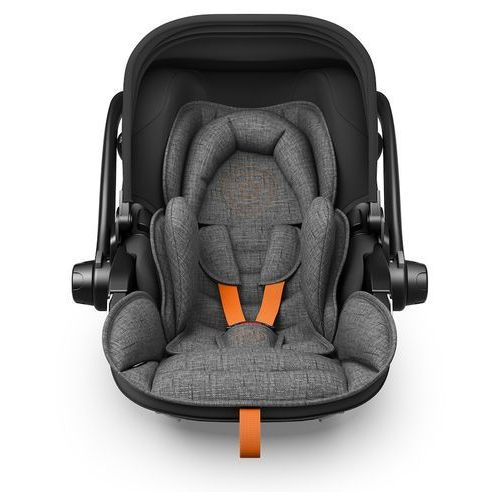 Kiddy fotelik samochodowy evoluna i-size 2 + baza isofix 2 grey melange safe orange