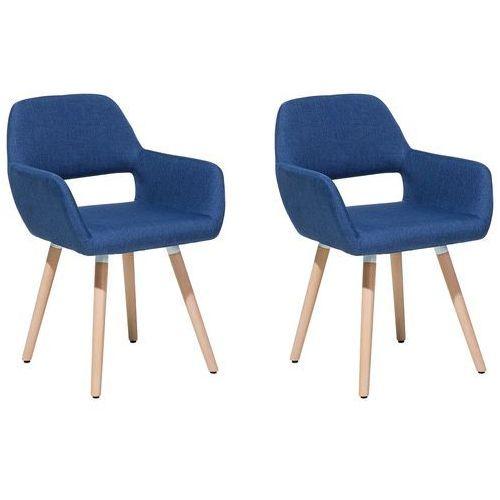 Zestaw do jadalni 2 krzesła niebieskie chicago marki Beliani